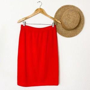 St. John By Marie Gray Orange Santana Knit Skirt